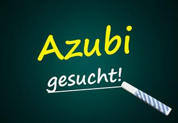 Azubi gesucht! (Tafel mit Text)