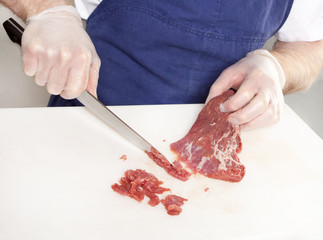 Beef tartare preparation