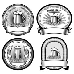 four vector  labels
