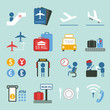 air travel icons design