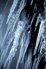 Hanging icicles in selenium