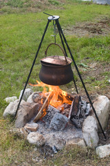 Campfire Gulash Cooking