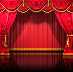 Theatre Curtains with backdrop