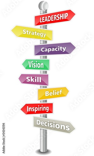 LEADERSHIP - wordcloud - colorful SIGNS