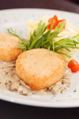 chicken cutlet with  potatoes