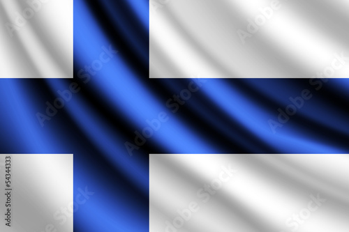 Waving flag of Finland,vector