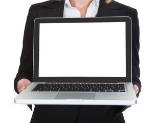 Female Architect Holding Laptop