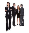 Businesswoman Standing In Front Of Her Colleagues