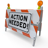 Action Needed Barrier Blockade Immediate Act Now poster