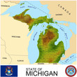 Michigan USA counties name location map background
