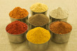 Spices on hessian background