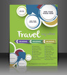 Vector Travel brochure, flyer, magazine cover