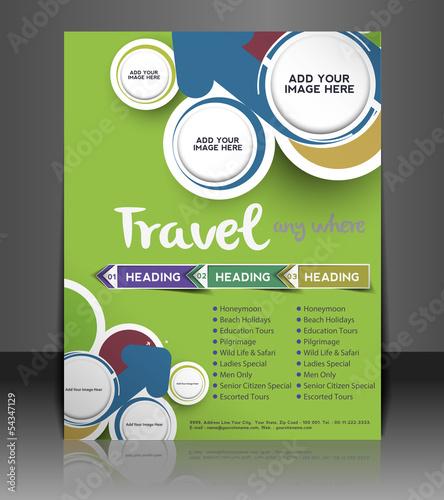Vector Travel brochure, flyer, magazine cover