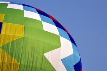 Ein Heißluftballon am Himmel, Detail