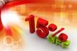 Fifteen percent on digital background
