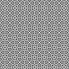 Black and white islamic seamless pattern