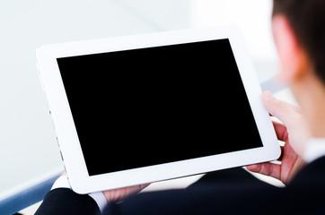 sicht auf ein tablet