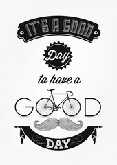 Typographical Illustration Bicycle Poster