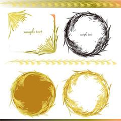 穀物のフレーム frames of crop