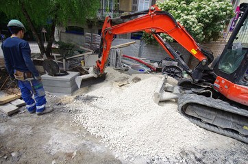 chantier - travaux d'assainissement