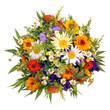 Leinwanddruck Bild - Bunter Blumenstrauß aus dem Bauerngarten
