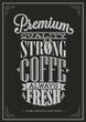 Coffee Typography Background On Chalkboard