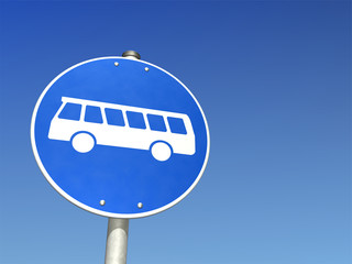 Schild Bussonderfahrstreifen