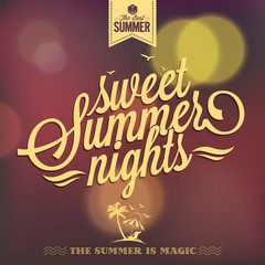 Sweet Summer Nights Typography Background For Summer