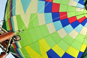 Ein Ballon von unten hinein