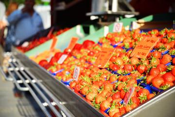 Obststand auf einem Marktplatz Detail