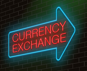 Currency exchange concept.