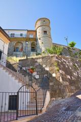 Great Prior's tower. Alberona. Puglia. Italy.