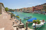 Fototapety Peschiera del Garda, Italien, Mincio, Boote