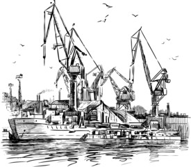industrial seaport