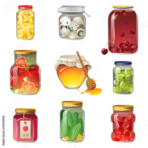 Canned fruits and vegetables