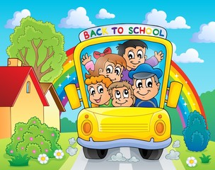 Image with school bus theme 4