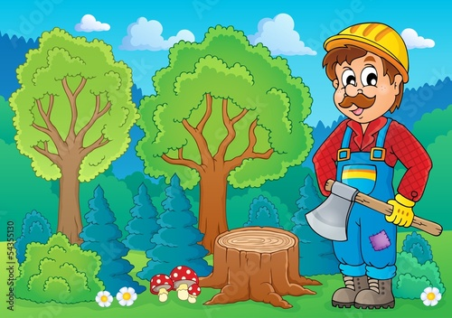 Image with lumberjack theme 2