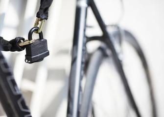 Fahrradschloss im Detail