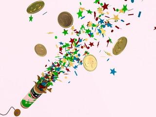 Firecracker whith money