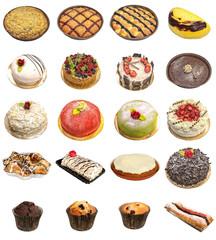 Cake and tart selection