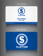 Business Card Set & S Letter Logo Design