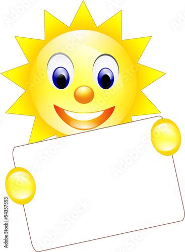 Sonne leeres Schild