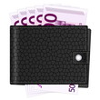 wallet with five hundred euro banknotes