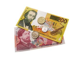 бельгийские  монеты и банкноты