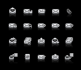 E-mail Icons -- Silver Series