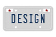MDesign Car  License Plate