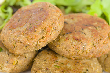 Shami Kebab - Minced meat and chana dal patties.