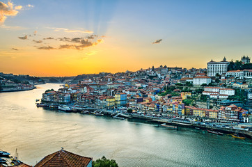 Sunset in Porto, Portugal