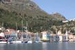 der Hafen von Megisti auf Kastelorizo, Griechenland