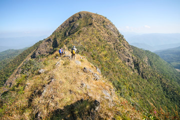 summit from northern of thailand